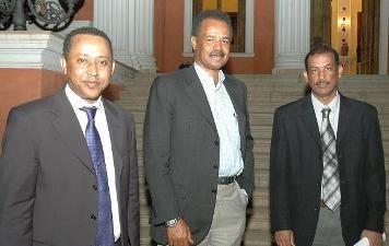 Photo - Elias Kifle, Sileshi and Isaias Afeworki - Presidential palace, Asmara, Eritrea