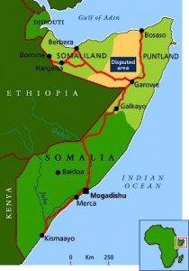 Map - Somaliland and Puntland