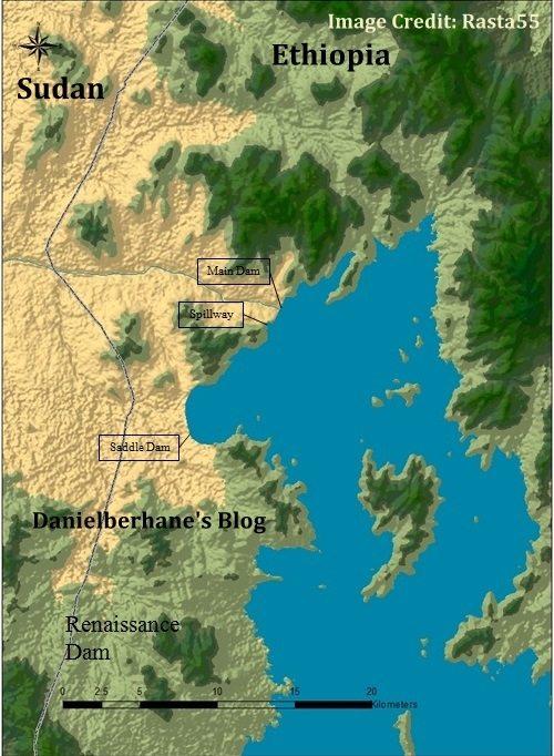 Grand Ethiopian Renaissance dam reservoir