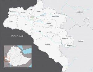 Zones of Gambella region state - Ethiopia