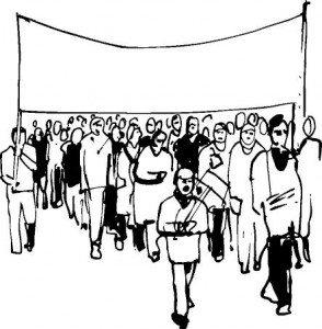 demonstration - clip art