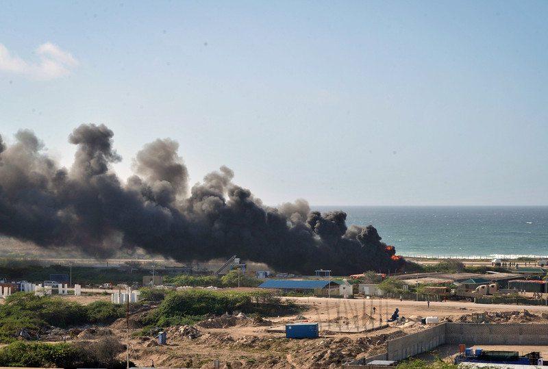 Ethiopian Air-force military cargo plane (Antonov-24) crashed at Mogadishu, Somalia