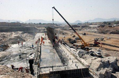 Grand Ethiopian Renaissance dam project April 2014