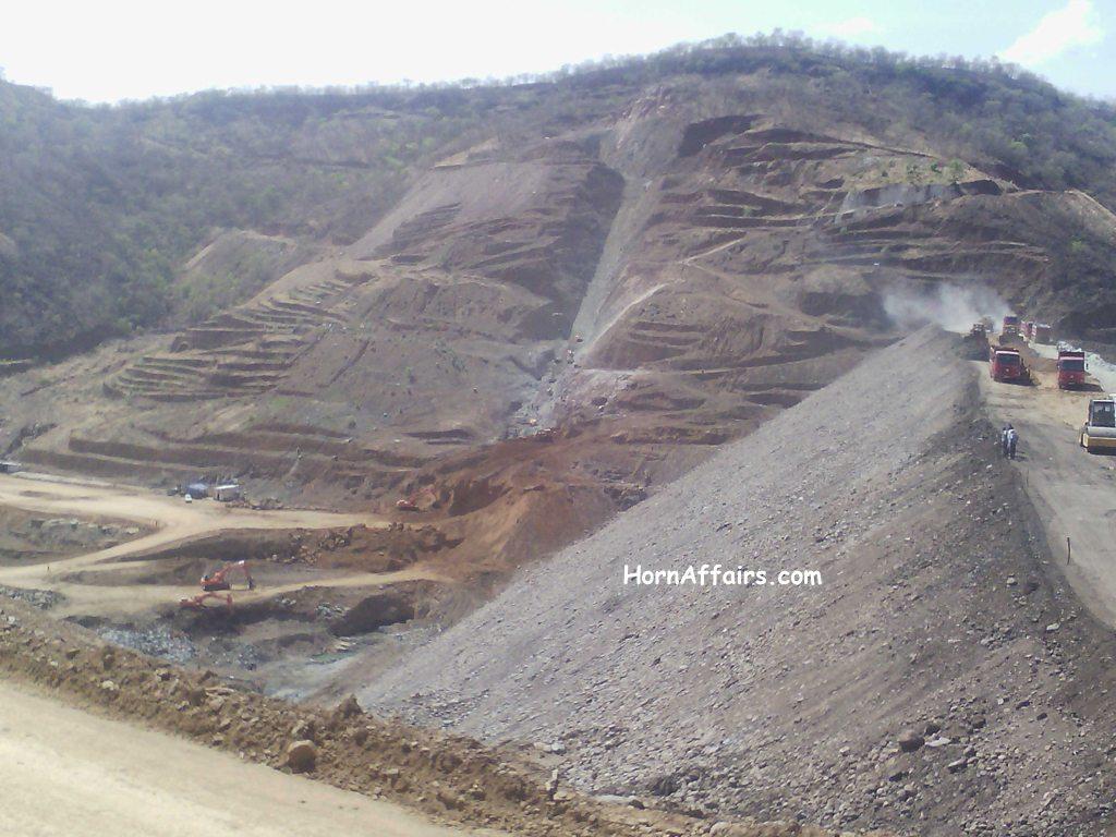 Ethiopia, Tigrai - Wolkait Sugar Project, May Day Dam (under construction)