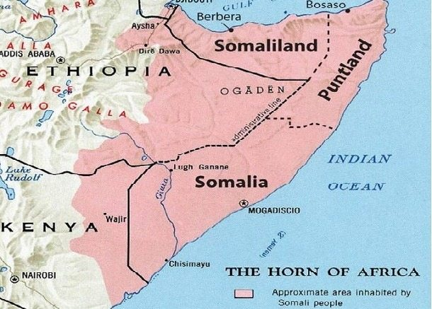 Map - Somaliland and the horn of Africa