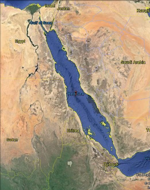 Map - Red Sea coastal nations