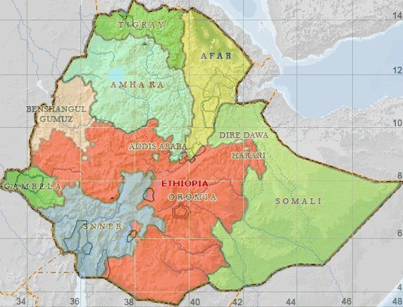 Map - Ethiopia regional map