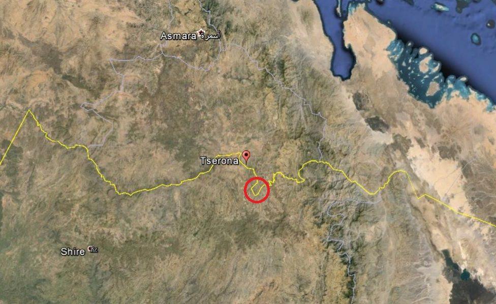 Map - Ethiopia Eritrea border - Tsorena clash area