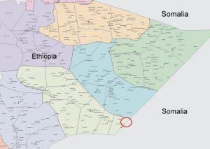 Map - Ethiopia Somalia border