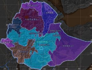 Map - Ethiopia federal regions