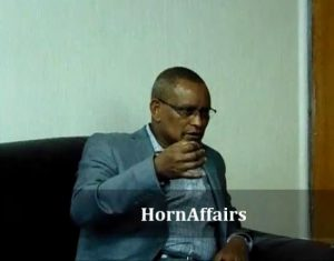 Photo - Debretsion Gebremichael and HornAffairs' Daniel Berhane, Interview, June 2017
