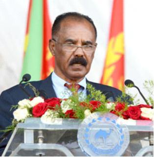 Photo - Eritrean President Isaias Afeworki, May 28, 2017