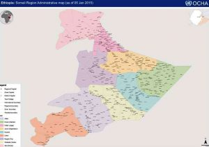Map - Ethiopian Somali region