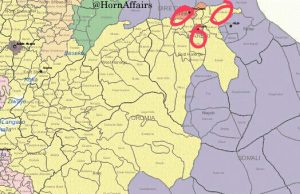 Map - Camps of displaced Oromo citizens in Chinaksen, Harar, Dire Dawa