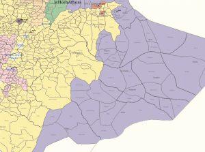 Map - Eastern Ethiopia, Oromia and Somali regions