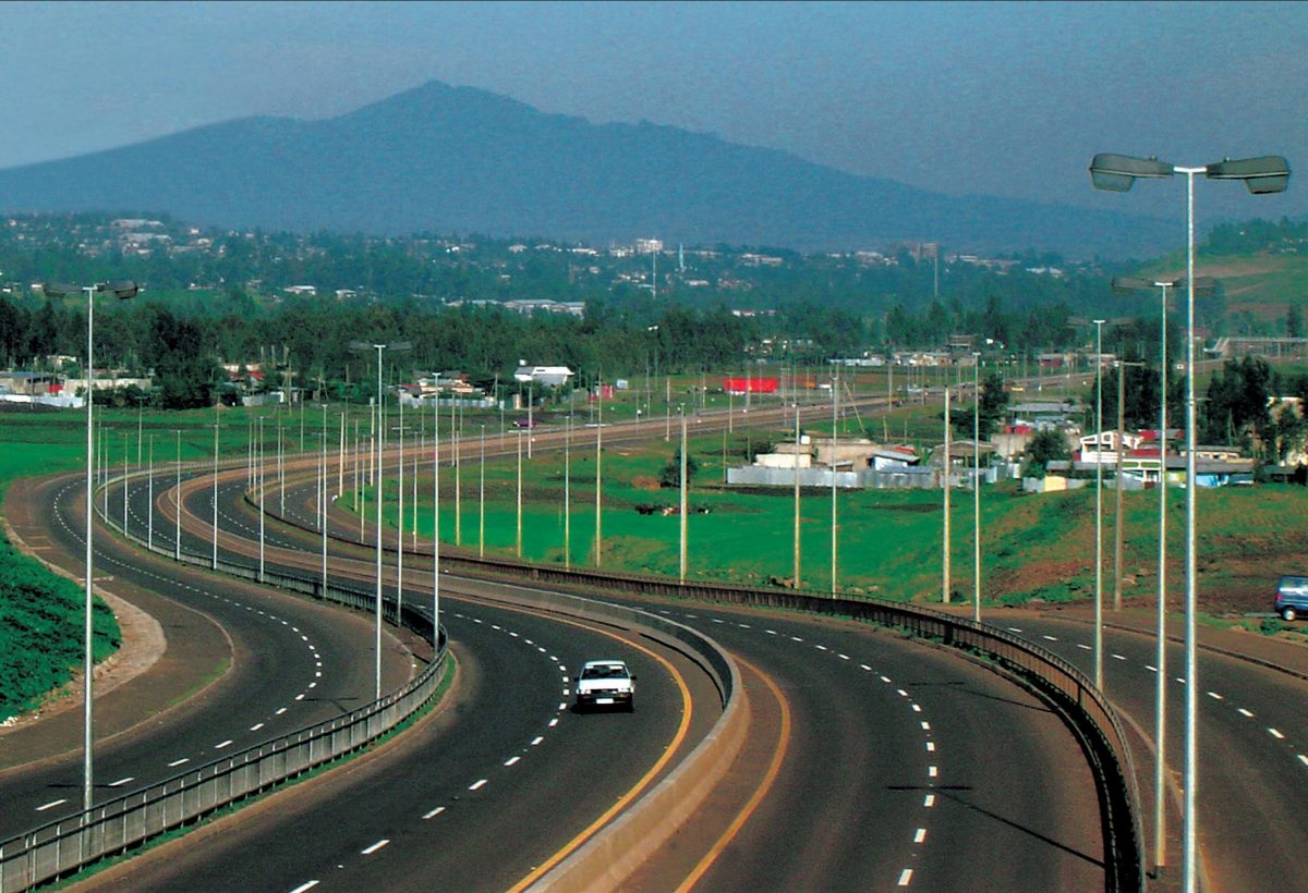 Photo - Addis Ababa - a highway at sunrise