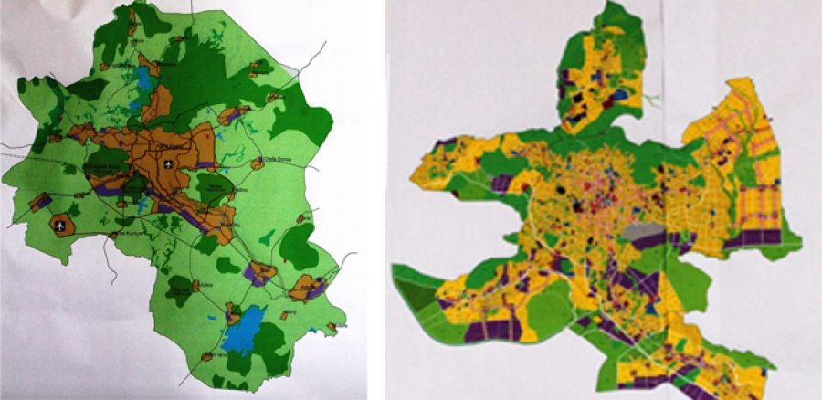 Addis Ababa - Oromia - old and new master plan