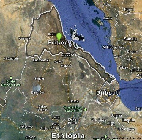 Map - Eritrea, Ethiopia