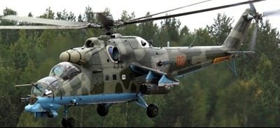 Hijacked Ethiopian Mi 35 Attack Helicopter