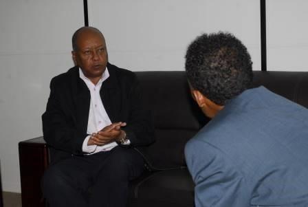Minister Abay Tsehaye and journo Zeray Hailemariam