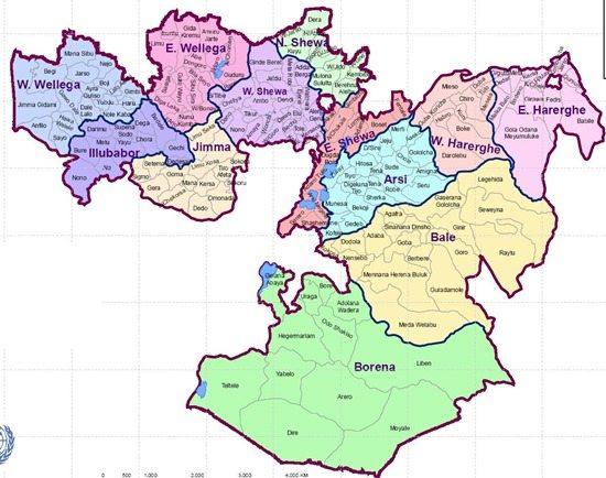 Map - Ethiopia Oromia