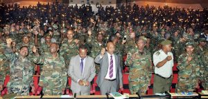 Photo - Senior Ethiopian army officers in Addis Ababa, May 28, 2016