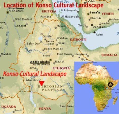 Map - Konso Cultural Landscape - Ethiopia