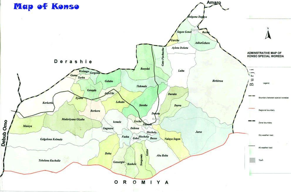 Map - Konso, Ethiopia