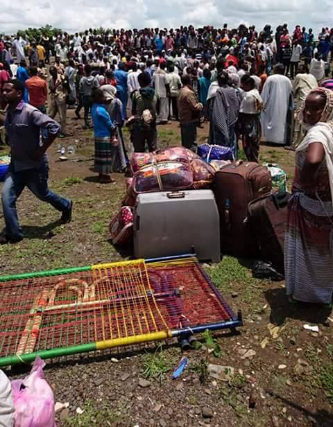 Photo - Tigrayans displaced from Metema-Yohanes town, North Gondar, in Gallabat, Sudan. Aug. 1, 2016
