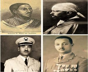 Photo - Emperor Yohannes, Emperor Menilik, Gen. Tadesse Biru, Gen. Jagama Kelo (Left to right, clockwise)