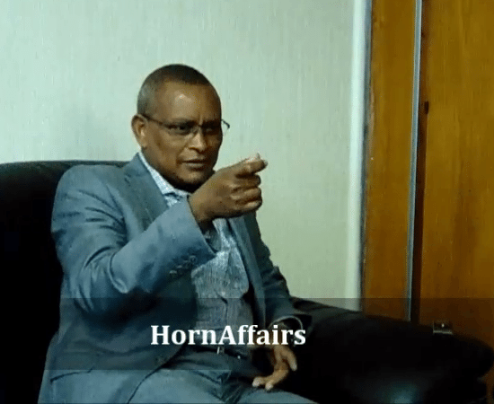 Photo - Debretsion Gebremichael, during an interview with HornAffairs, June 3, 2017