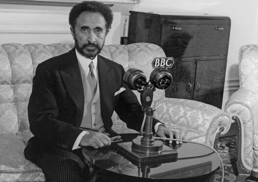 Photo - Emperor Haile Selasie with BBC in1954