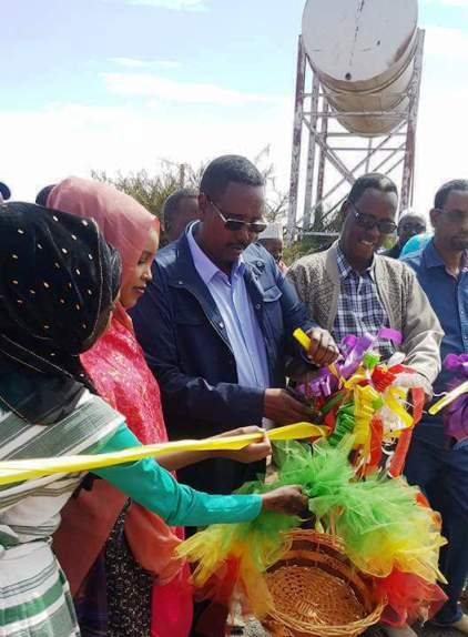 Photo - Ethiopian-Somali President Abdi Mohammed Omar inaugurating a water project