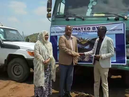 Photo - donation for IDPs, Kolechi, Babile, Ethiopian-Somali region