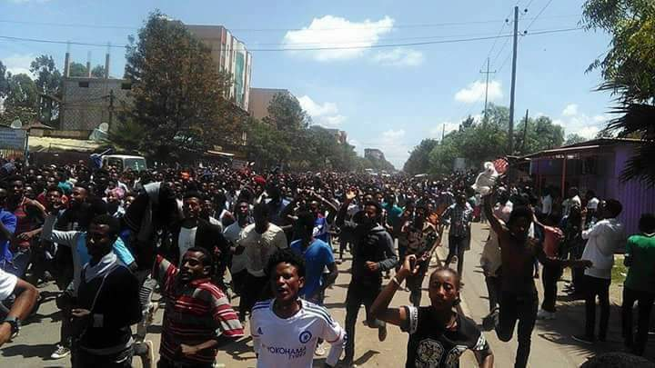 Photo - Ethiopia, Ambo city protest - Oct 11, 2017