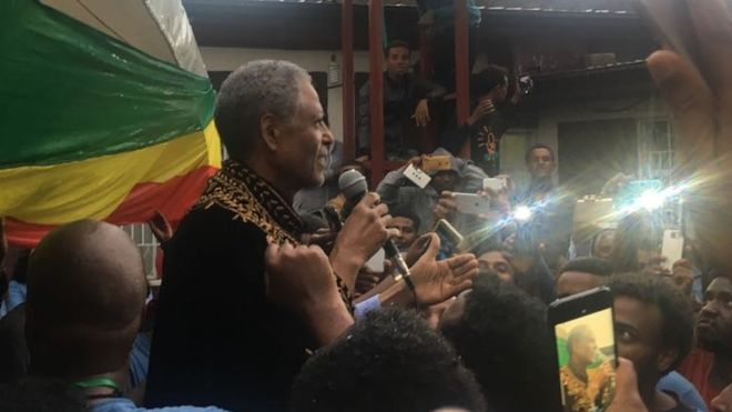 Photo - Andargachew Tsige after release from prison
