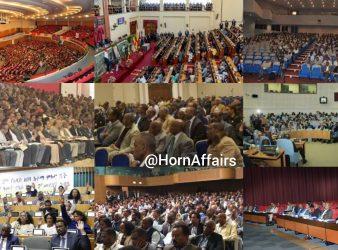 Photo - Collage of various Ethiopian meetings