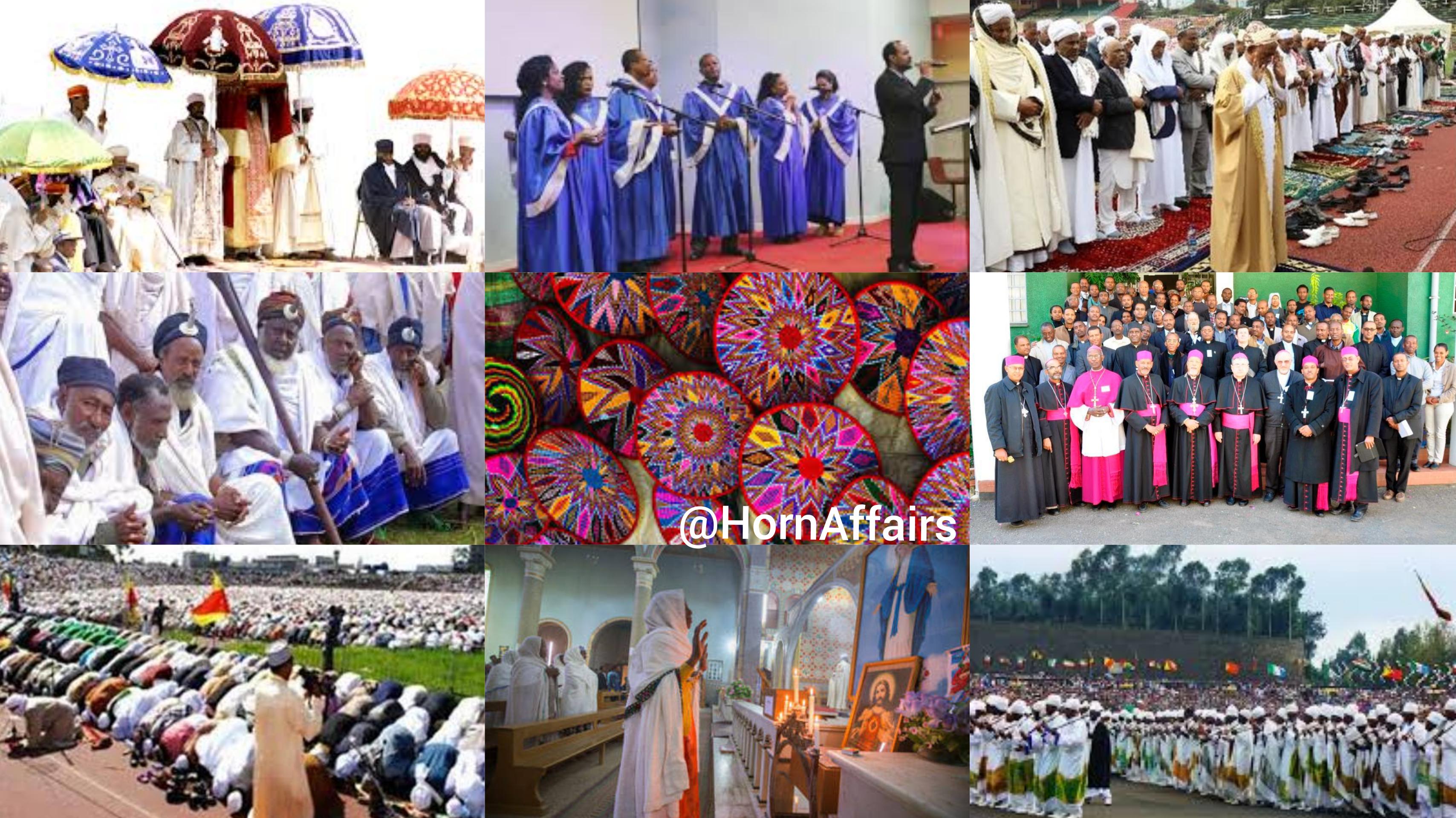Photo - Collage of various Ethiopian religious events