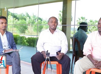 Photo - Yemane Kassa, Daniel Berhane and Zeray Woldesenbet discussion on HornAffairs, Dec 2018