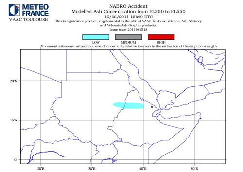 Nabro Volcano Modelled Ash Consentration FL350 to FL550 June 16-2011_12GMT