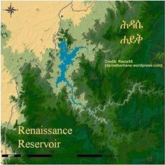 Ethiopia Renaissance dam (Millennium dam) reservoir