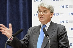 British Secretary of State for Development Aid, Andrew Mitchell