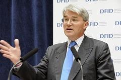 British Secretary of State for Development Aid, Andrew Mitchell