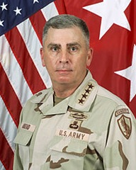 General John Abizaid - the longest-serving commander of United States Central Command as well as  Afghanistan and Iraq - retired from the Army in May, 2007