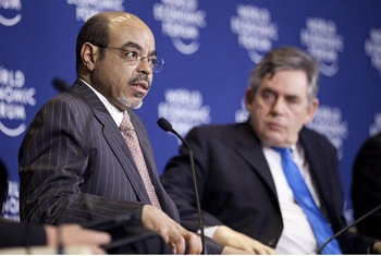 Meles Zenawi and Gordon Brown - World Economic Forum on Africa 2012 (Addis Ababa)