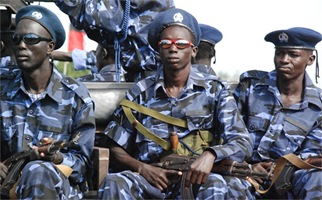 South Sudan Police officers