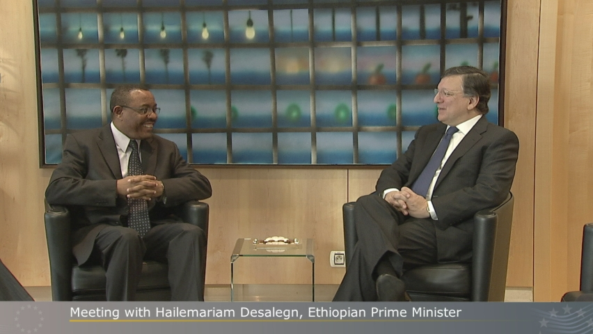 Prime Minister Hailemariam Desalegne and EU Commissioner José Manuel Durão Barroso