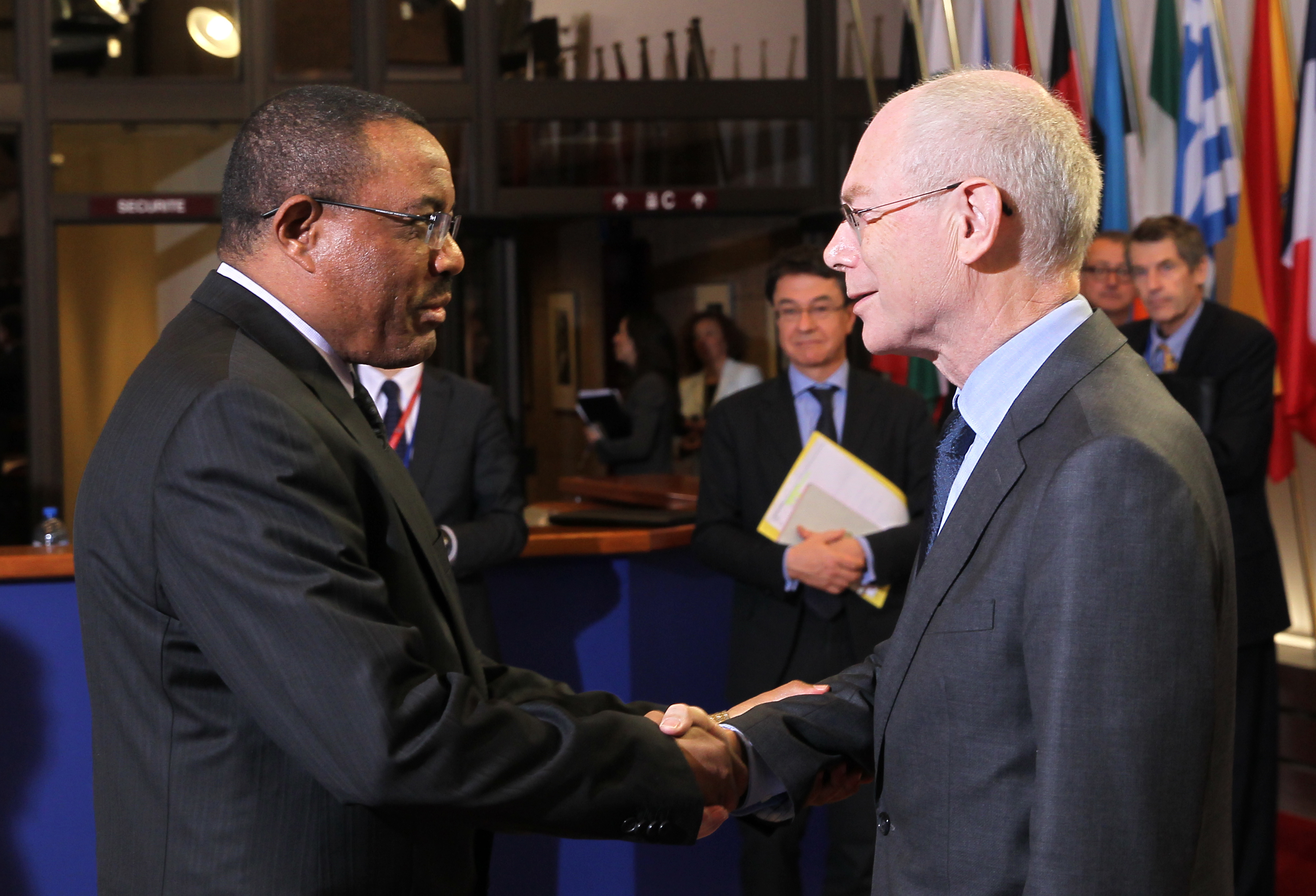 Prime Minister Hailemariam Desalegne and EU Council President Herman Van Rompuy