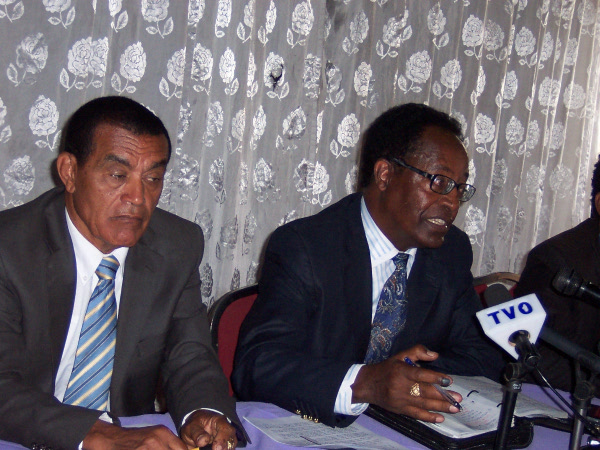 Ethiopia Raeie (Vision) Party - President Teshale Sebro and PR head Getachew Abebe