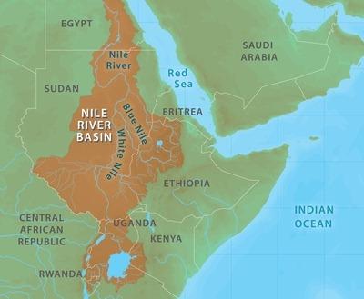 Map - Nile river basin